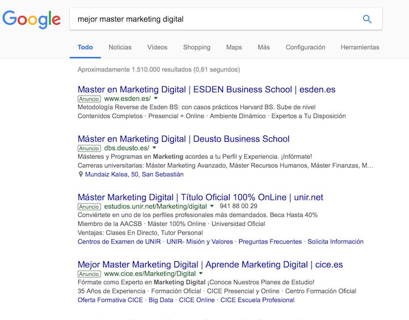 Ejemplo Google Ads