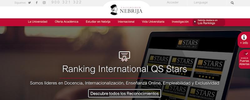 ejemplo página web